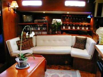 Main Salon - starboard side